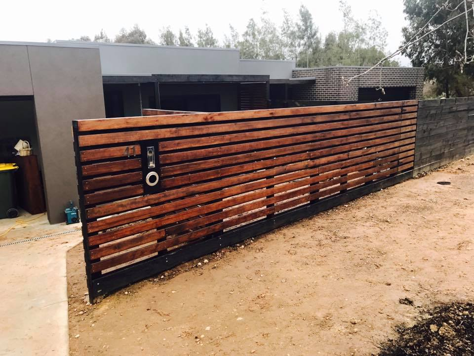 Decking timber fence