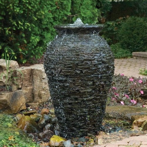 Medium Stacked Slate Urn Fountain Kit | Nature Build ...