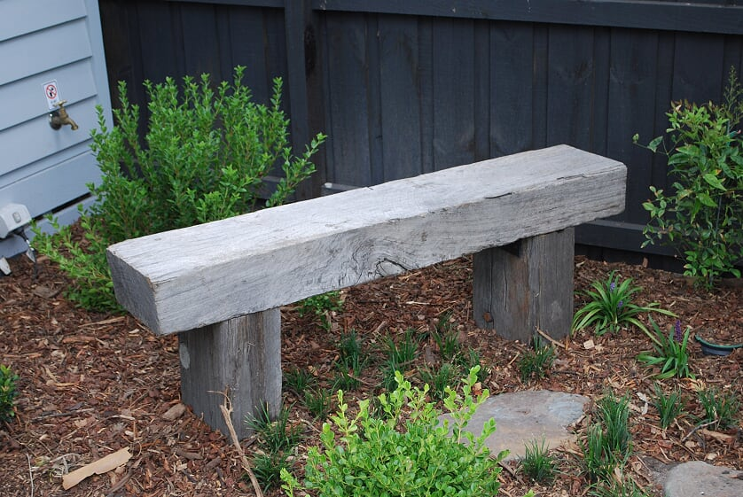 Rustic timber seating