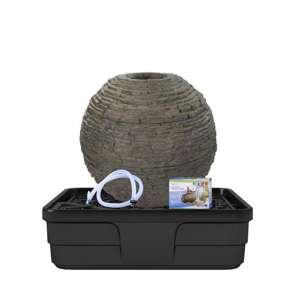 Stacked slate sphere