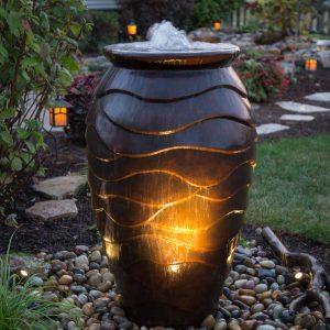 Scalloped urn