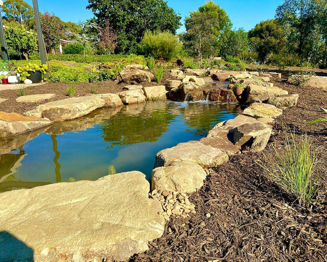 Castlemaine slate pond